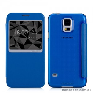 Momax Flip View Case Cover for Samsung Galaxy S5 - Blue