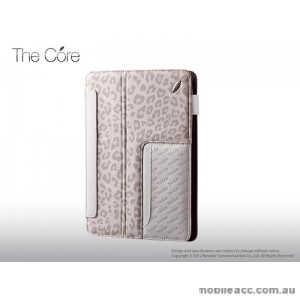 Snow Leopard Leather Case for iPad 2 / 3 / 4 - White