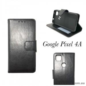 Mooncase Wallet  Case Cover for Google Pixel 4A  Black