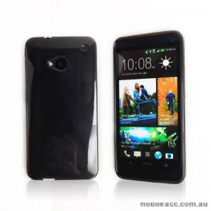 TPU Gel Case for HTC One M7 - Black