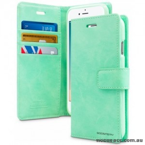 Mercury Goospery Blue Moon Diary Wallet Case For iPhone 13 Pro MAX 6.7inch  Mint Green