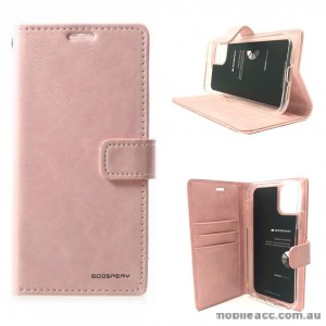 Mercury Goospery Blue Moon Diary Wallet Case For iPhone 13 Pro  6.1inch  Rose Gold