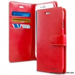 Mercury Goospery Blue Moon Diary Wallet Case For iPhone 13 Pro  6.1inch  Red