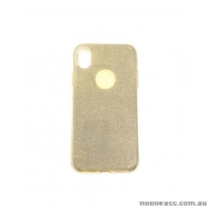 Bling Simmer TPU Gel Case For iPhone XR  6.1'  Gold