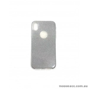 Bling Simmer TPU Gel Case For iPhone XR  6.1'  Silver