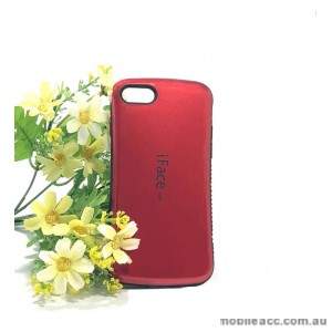 IfaceMall  Anti-Shock Case for iPhone 7 8  4.7'  Dark Red
