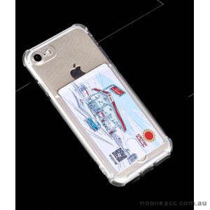 Soft TPU Gel Jelly Back Case With Card Slot For iPhone 7/8 4.7 Inch - Clear