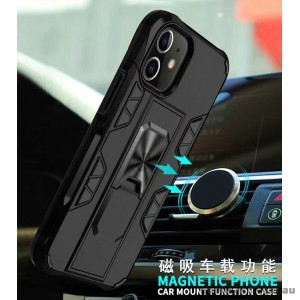 Anti Shockproof Heavy Duty With Stand With Magnet Case For iPhone 12  6.1inch  Black
