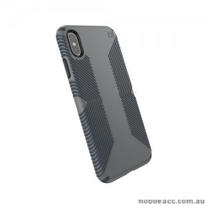 SPECK Presidio Grip Shockproof Heavy Duty Case for iPhone XS MAX 6.5'  Grey