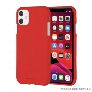Genuine Goospery Soft Feeling Jelly Case Matt Rubber For iPhone11 6.1' (2019)  Red