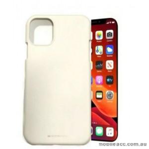 Genuine Goospery Soft Feeling Jelly Case Matt Rubber For iPhone11 6.1' (2019)  White