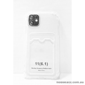 2.0MM Anti Shock TPU Card Slot Case For iPhone 11 6.1inch  Clear