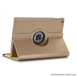 360 Degree Rotary Flip Case for New Ipad 9.7  2018  Gold