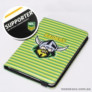 NRL Licensed Canberra Raiders PU Leather Wallet Case for iPad Air 2