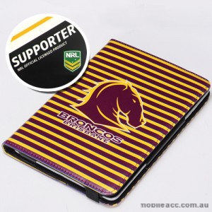 NRL Licensed Brisbane Broncos Wallet Case for iPad Air