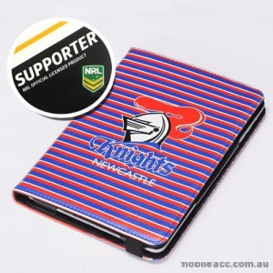 NRL Licensed Newcastle Knights PU Leather Wallet Case for iPad Air 2