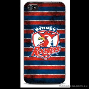 NRL Licensed Sydney Roosters Grunge Back Case for iPhone 4/4S