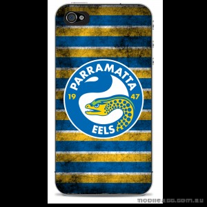 NRL Licensed Parramatta Eels Grunge Back Case for iPhone 4/4S