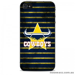 NRL Licensed North Queensland Cowboys Grunge Back Case for iPhone 5/5S