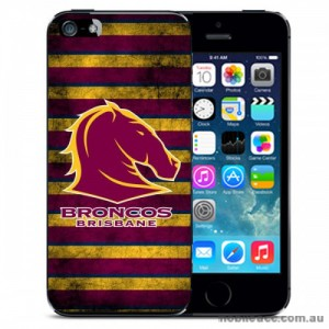 NRL Licensed Brisbane Broncos Grunge Back Case for iPhone 5C