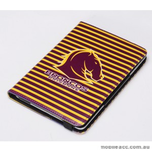 NRL Licensed Brisbane Broncos  PU Leather Case for iPad Mini 1 2 3