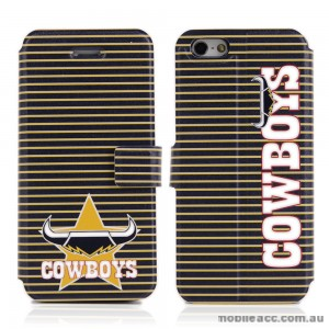 NRL Licensed North Queensland Cowboys Wallet Case for iPhone 5/5S