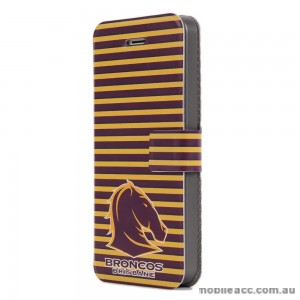 NRL Licensed Brisbane Broncos Wallet Case for iPhone 5/5S