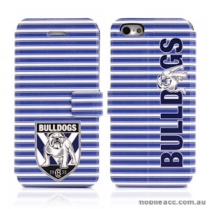 NRL Licensed Canterbury Bankstown Bulldogs Wallet Case for iPhone 5/5S