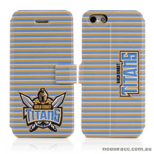 NRL Licensed Gold Coast Titans Wallet Case for iPhone 5/5S