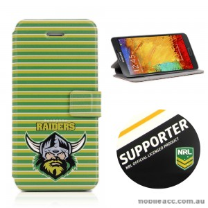 NRL Licensed Canberra Raiders Wallet Case for Samsung Galaxy Note 3