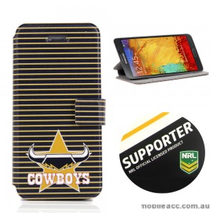 NRL Licensed North Queensland Cowboys Wallet Case for Samsung Galaxy Note 3
