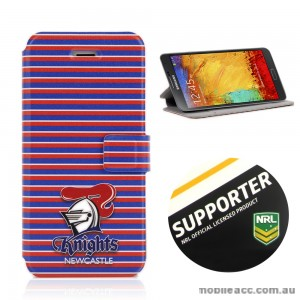 NRL Licensed Newcastle Knights Wallet Case for Samsung Galaxy Note 3
