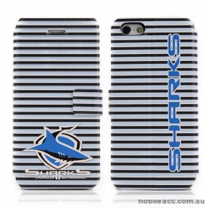 NRL Licensed Cronulla Sutherland Sharks Wallet Case for iPhone 4/4S