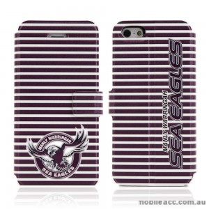 NRL Licensed Manly Warringah Sea Eagles Wallet Case for iPhone 4/4S