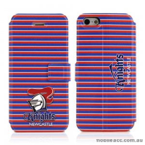NRL Licensed Newcastle Knights Wallet Case for iPhone 4/4S