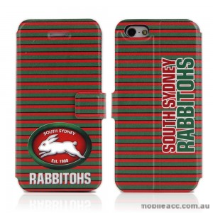 NRL Licensed South Sydney Rabbitohs Wallet Case for iPhone 4/4S