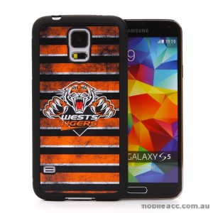 Licensed NRL West Tigers Back Case for Samsung Galaxy S5 - Grunge