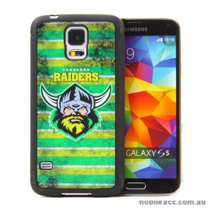 Licensed NRL Canberra Raiders Back Case for Samsung Galaxy S5 - Grunge