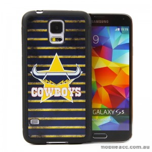Licensed NRL North Queensland Cowboys Back Case for Samsung Galaxy S5 - Grunge