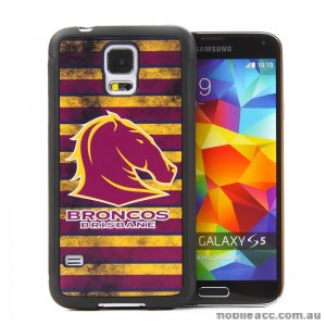 Licensed NRL Brisbane Broncos Back Case for Samsung Galaxy S5 - Grunge