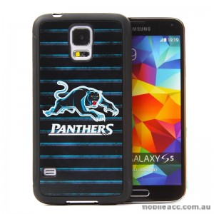 Licensed NRL Penrith Panthers Back Case for Samsung Galaxy S5 - Grunge