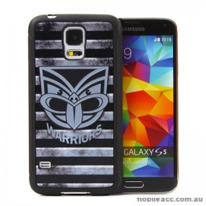 Licensed NRL New Zealand Warriors Back Case for Samsung Galaxy S5 - Grunge