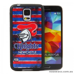 Licensed NRL New Castle Knights Back Case for Samsung Galaxy S5 - Grunge