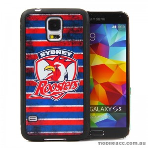 Licensed NRL Sydney Roosters Back Case for Samsung Galaxy S5 - Grunge