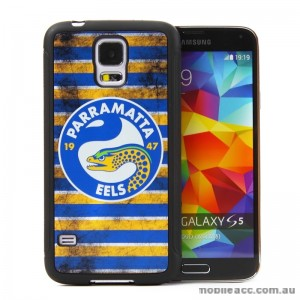 Licensed NRL Parramatta Eels Back Case for Samsung Galaxy S5 - Grunge