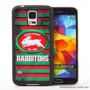 Licensed NRL South Sydney Rabbitohs Back Case for Samsung Galaxy S5 - Grunge