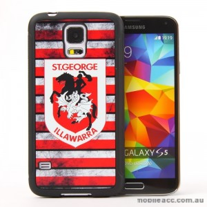 Licensed NRL St. George Dragons Back Case for Samsung Galaxy S5 - Grunge