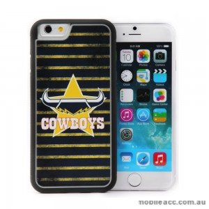 Licensed NRL Queensland Cowboys Back Case for iPhone 6/6S - Grunge
