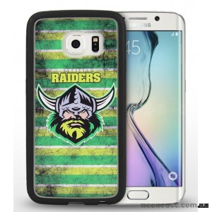 Licensed NRL Canberra Raiders Grunge Jersey TPU 3D Case for Samsung Galaxy S6 Edge