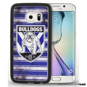 Licensed NRL Canterbury Bulldogs Grunge Jersey TPU 3D Case for Samsung Galaxy S6 Edge
